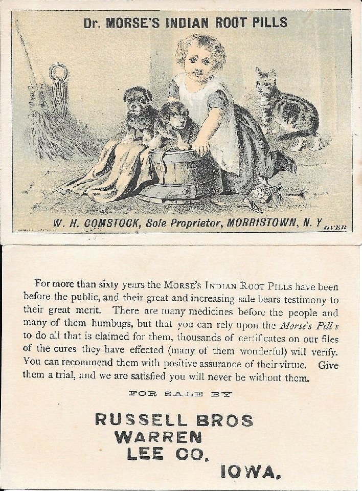 Ad for Dr Morse Indian Root Pills